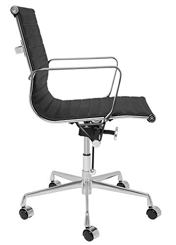 best price soho eames style ribbed management office chair black
