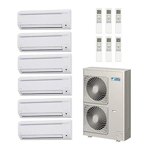 Daikin 50,000 Btu 18.8 Seer 6 - Zone Mini Split Heat Pump Sy