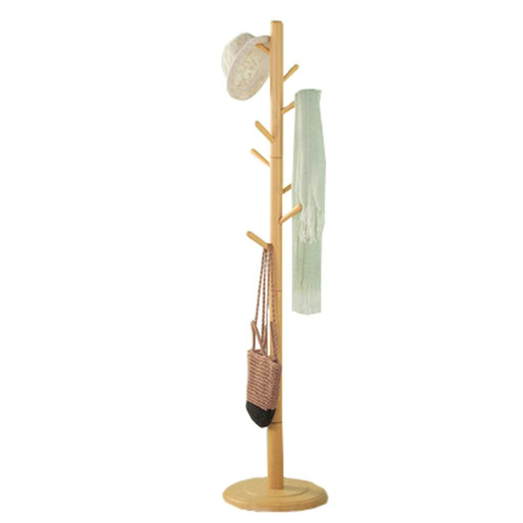 Amazon.com: Perchero vertical de madera maciza con gancho ...