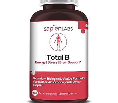Sapien Labs (USA) - B Complex, Vegan Friendly, B12, B1, B2, B3, B5, B6, B7, B9-60 Servings