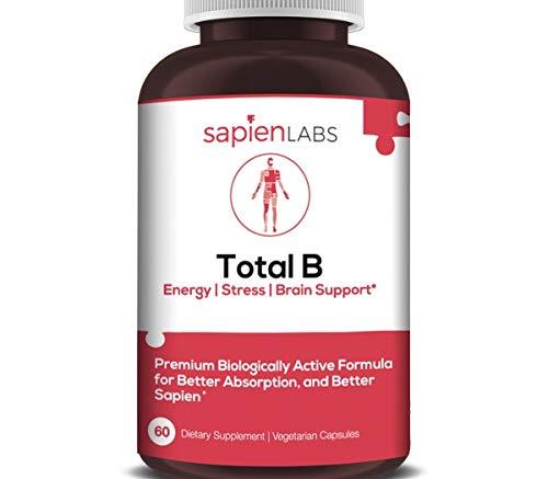 Bmr Complex - Sapien Labs (USA) - B Complex, Vegan Friendly, B12, B1, B2, B3, B5, B6, B7, B9-60 Servings