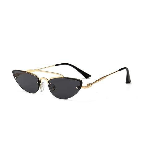 Yangjing-hl Gafas de Sol de Metal para Hombres y Mujeres ...