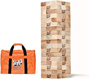 Jenga Giant JS7 (Stacks to Over 5 feet) Precision-Crafted, Premium Hardwood Game with Heavy-Duty Carry Bag (Au
