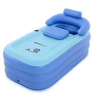 Intime Pieghevole Gonfiabile Spessi Caldi Adulti Vasca Da Bagno, Bambini Gonfiabili Pool, Blu 1 spesavip