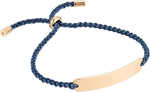 Fossil Women's Engravable Steel Bar Slider Bracelet Rose Gold One Size -
