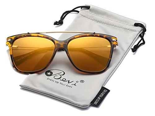 Bevi Polarized Polycarbonate Metal Sunglasses - Sunglasses Seen As Tv Hd On Aviator