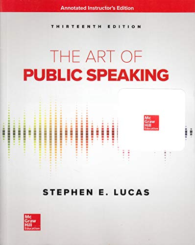 The Art Of Public Speaking 13th Edition AIE