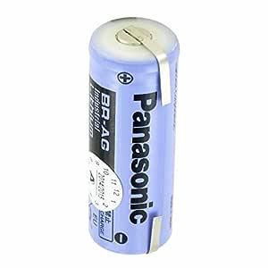 Panasonic - Pila (3 V, celdas BR-AG, tamaño A, BR17455, 2200 mAh ...