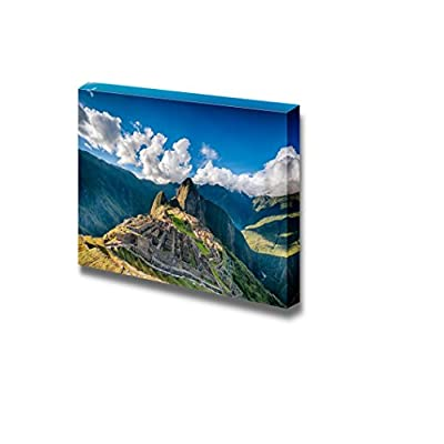 Beautiful Scenery Landscape Machu Picchu an Over View Above The Lost City - Canvas Art Wall Art - 32