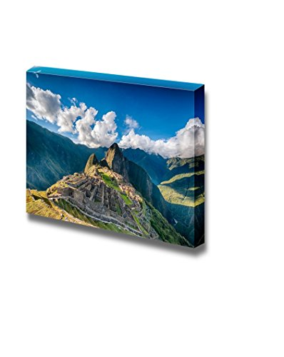 Beautiful Scenery Landscape Machu Picchu an Over View Above the Lost City Wall Decor ation