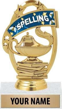 Spelling Bee Trophy - 5'' Spelling Trophy With Custom Text 20 Pack Prime