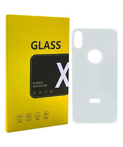 iPhone X Back Panel Protector 5D 9H 0.3mm Tempered Glass Full Back Screen Coverage with Shatterproof Glass and High Transparency for iPhone 10 - Sliver