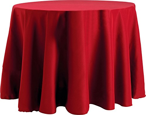 Basic Tablecloth (Bright Settings 60 x 120 Inch Oval Tablecloth, Flame Retardant Basic Polyester, Cherry Red)