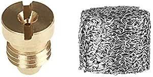 Senmubery Foam Cannon Orifice Nozzle Tips And Foam Maker Universal 1.1 Mm Thread Nozzle And Mesh Filter For Snow Foam Lance 3000 Psi