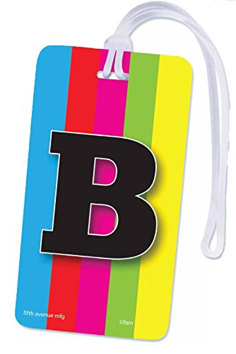 Luggage Tag Pattern (Initial Luggage Tag Letter B Personalized ID Tag Colorful TV Test Pattern Design (B))