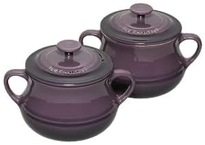 Le Creuset 9100110034 - Juego de 2 ollas con asas tamaño pequeño, 0,5 L, color morado