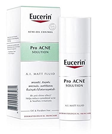 Eucerin Pro Acne Solution A.I. Matt Fluid Acne-Oil Control 50ml Reduces  comedonal acne   Soothes irritations 3c4d4ee378c