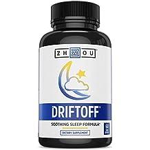 DRIFTOFF Premium Sleep Aid with Valerian Root & Melatonin - Sleep Well, Wake Refreshed - Non Habit Forming Sleep Supplement - Also Includes Chamomile, Tryptophan, Lemon Balm & More - 60 Veggie Caps