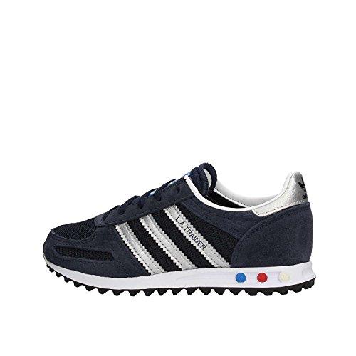 A silv Bambini Adidas Blu Unisex – Sneaker Trainer Collo Basso La Kids leg 7IqFxUR