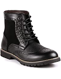 MC304 Mens Lace Up Wing Tip Oxford Boot
