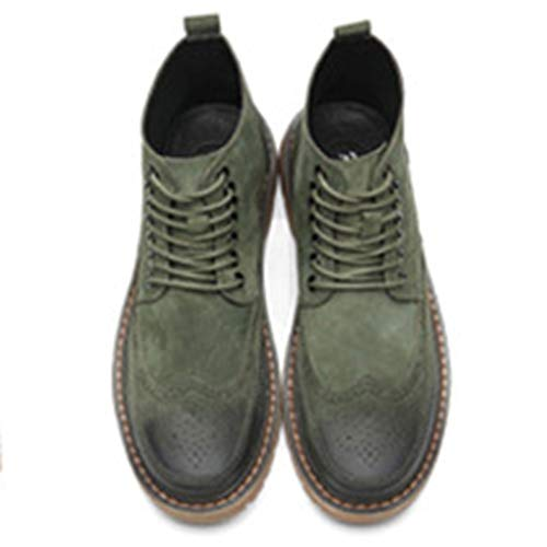 Green Green Green Stivali Stivali Stivali Stivali Stivali Intagliati Uomo da Pelle Martin Stivali Classici Stivali Retro per Brogue Adulti in Pelle da Classici qwUTqr