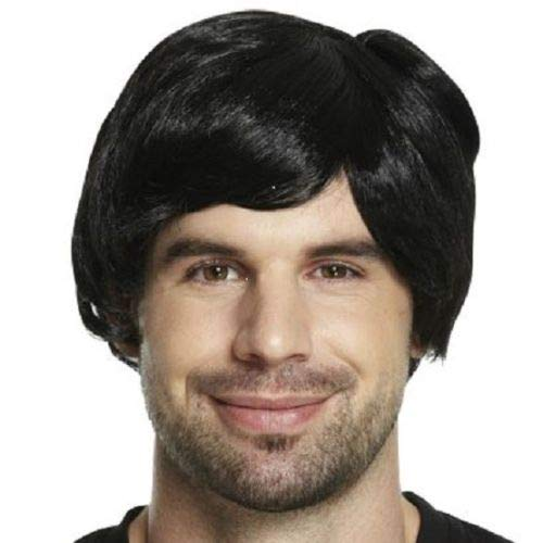 Adult Mens Rock Star Wig for 70s 80s Fancy Dress Accessory