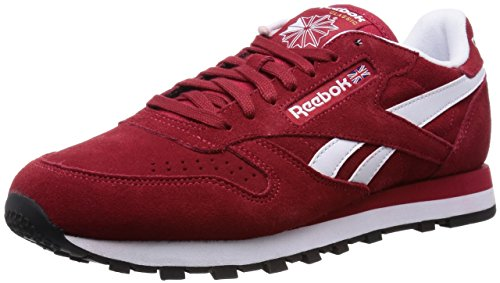 Reebok Classic Leather Suede - Zapatillas para hombre Power Red/White/Black/Gold Met