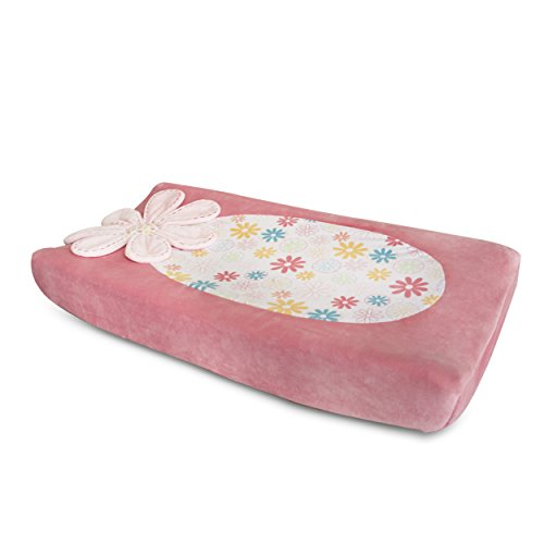Kidsline Fanciful Floral Changing Pad Cover, Plush Kidsline Cover