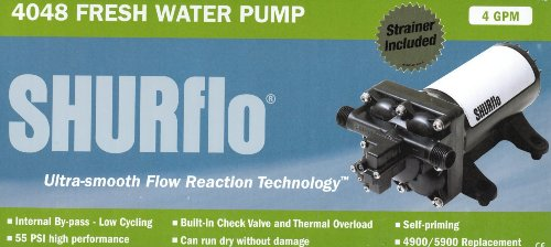 SHURflo High Flow By-Pass Reaction Technology Series Pump (Designed to Replace Both 4900 and 5900 Smart Sensor Pumps) ()