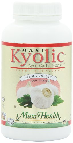 Maxi Health Kyolic 400 Aged Garlic Extract - Immune Booster , 360 Extra Strength Tablets , Kosher by Maxi-Health