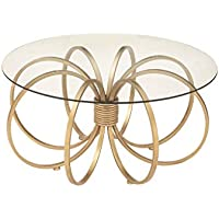 Deco 79 97088 Metal Glass Coffee Table, 36 x 18