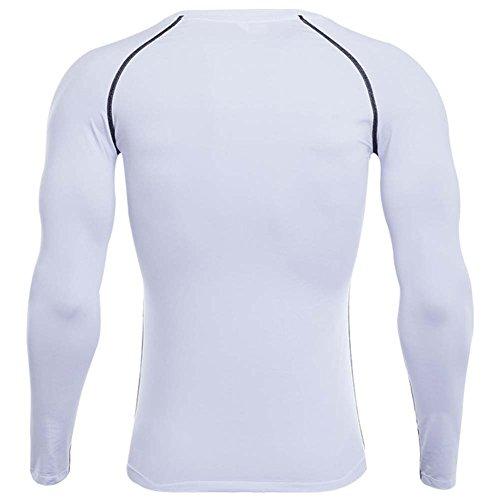 Anyu Camiseta de Compresión de Manga Larga Secado Rápido Camiseta de Running Para Hombre pxJFZsSRm