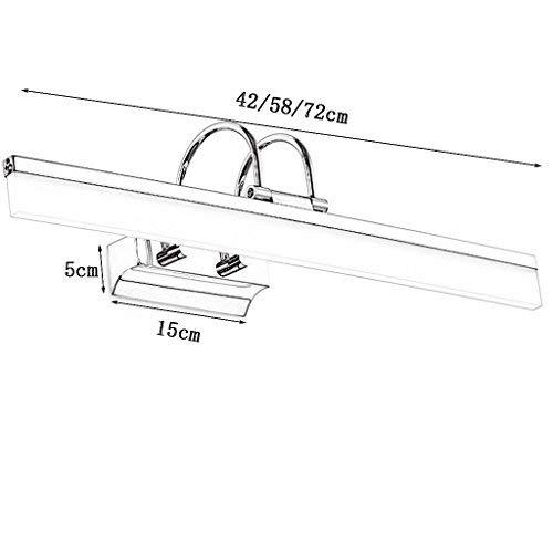 ERNTOGO Nordischen Stil Wasserdichte Wasserdichte Wasserdichte Anti-Fog-Feuchtigkeits-Badezimmer-Toilette LED-Spiegel-Frontleuchte Einfache Mode Make-up-Leuchten Wandleuchte Spiegelschrank Lichter Eitelkeitslicht 1239e5