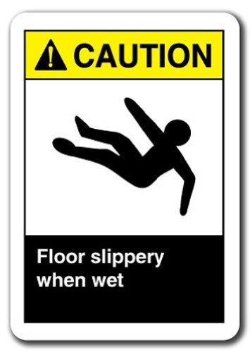 Novedad signo regalo señal de advertencia suelo resbaladizo ...