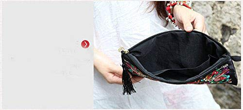 ETOSELL Lady Handbag Purse Handmade Nation Retro Embroidered Bag Wallets Zip Wristlets by Etosell (Image #4)