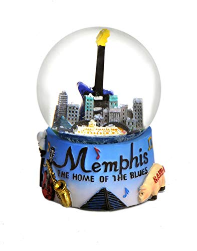 Memphis Tennessee Colorful Snow Globe 65mm