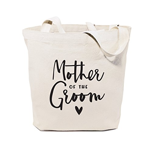The Cotton & Canvas Co. Mother of the Groom Wedding, Beach, Shopping and Travel Resusable Shoulder Tote and ()