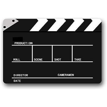 Hi,Doormat Movie Cinema Lapper Board Doormat Outdoors/Indoor Machine Washable Home Floor Mats Rugs 23.6 x 15.7 Inches