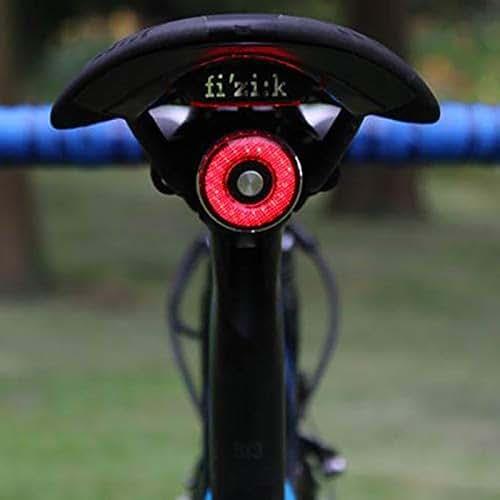 SUNJULY Bike Tail Light, LED Rechargeable Bike Brake Light IP65 Waterproof Bicycle Taillight Rear Light Helmet Flash Warning Light for All Handlebars Bicycle