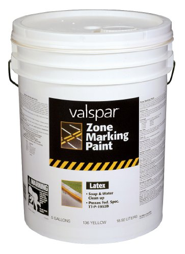 Valspar 24-136P Yellow Latex Zone Marking Paint - 5 Gallon