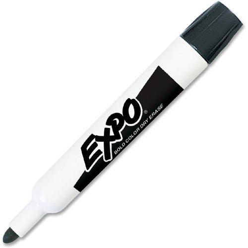 EXPO® Dry Erase Marker, Bullet Tip, Black, Dozen by Expo