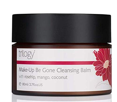 TRILOGY Make-Up Be Gone Cleansing Balm 80ml-Melt Away Make-up for Clean, Supple, hydrated Skin with Mango Butter, Rosehip Oil, Coconut Oil.