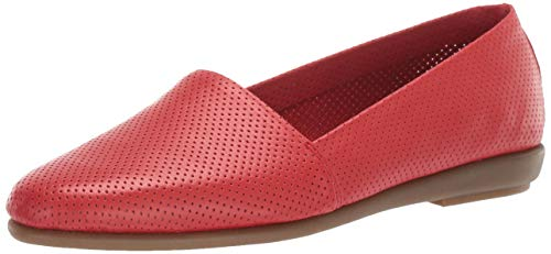 Aerosoles Women's MS Softee Shoe, RED Leather, 10 M US