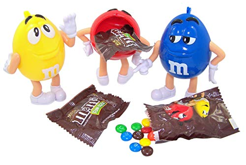 M&M's 3D Character Case with Fun Size M&M Candy, Pack of 3