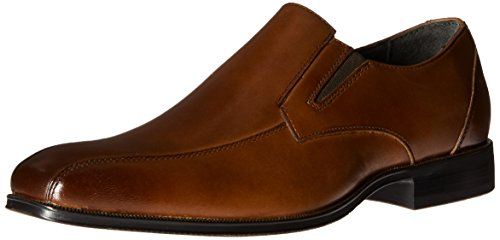 STACY ADAMS Men's Fairchild-Bike Toe Slip-on Loafer, Scotch, 11.5 M US