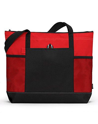 Bodek And Rhodes 80279320 1100 Gemline Select Zippered Tote Red - One
