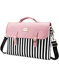 Computer Bag Laptop Bag for Women Cute Laptop Sleeve Case for Work College, Slim-Pink, 15.6-Inch