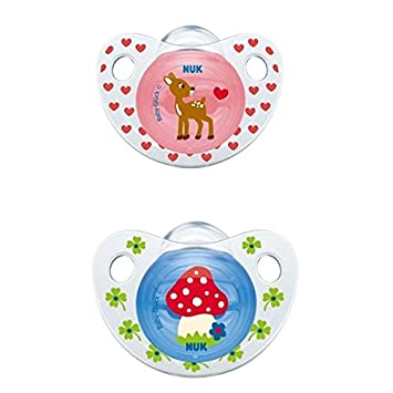 /Multicolour Happy Baby/ /Assorted Colours NUK 10175131/Silicone Dummy Size 1/