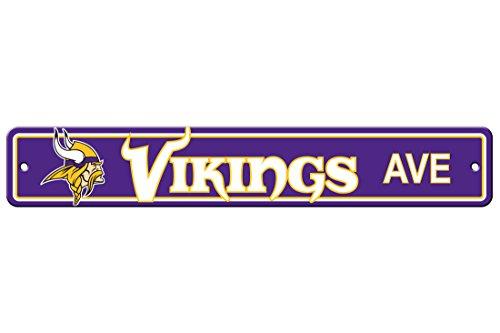 Fremont Die NFL Minnesota Vikings Plastic Street Sign