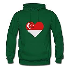 Heart Singapore (2c)++ Printed Women Elegent Sweatshirts - X-large - Electric Green